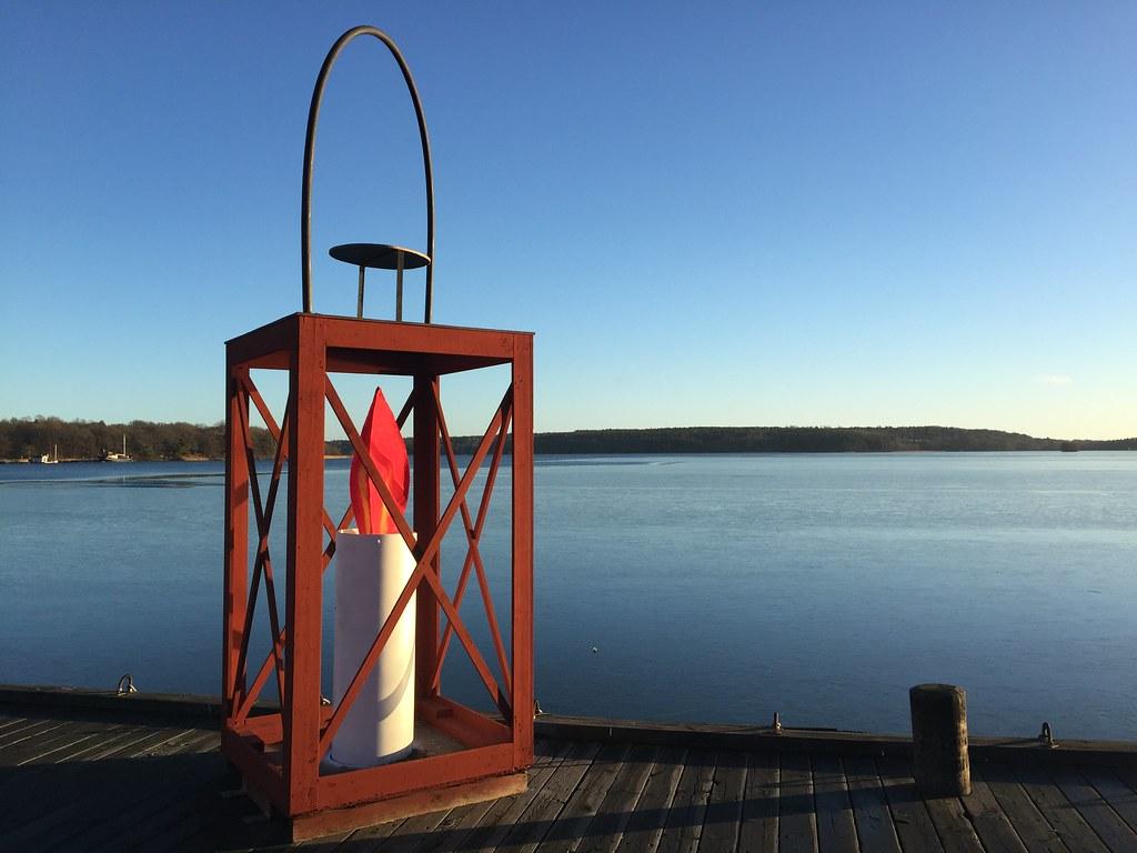 Jul på ångbåtsbryggan