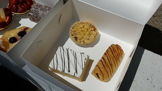 Apple Crumble, Vanilla Slice, Chocolate Croissant from Flour of Life Bakery