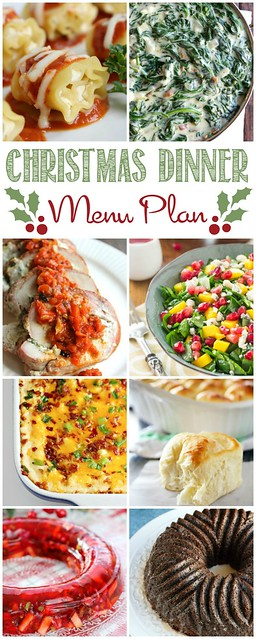 Make holiday menu planning easy with this Christmas Dinner Menu Plan! This post includes 14 recipe links for fuss-free menu planning!