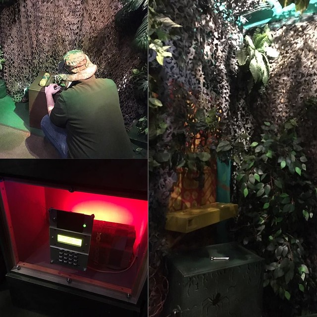 #timetrip #amsterdam. We chose the Jungle room. Had to solve puzzles to deactivate a bomb in 60 minutes. We did it in 64 minutes.