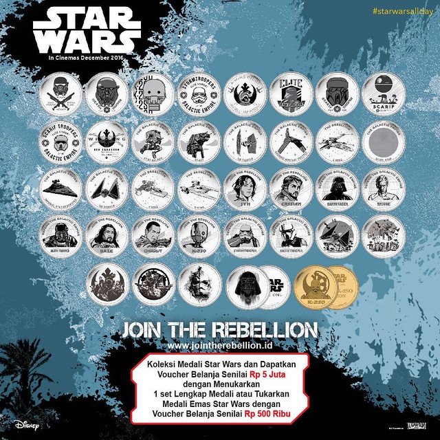 Alfamart Exclusive #StarWars / #RogueOne Coin Collectibles from Indonesia