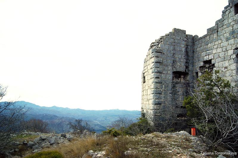 Вид с крепостью
