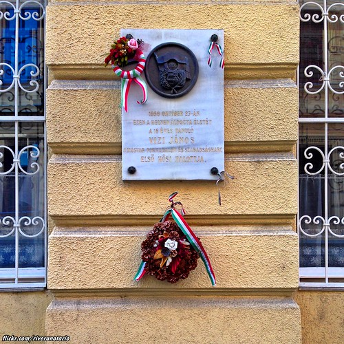 Budapest - Hommage to the first Hungarian Revolutionary killed in 1956