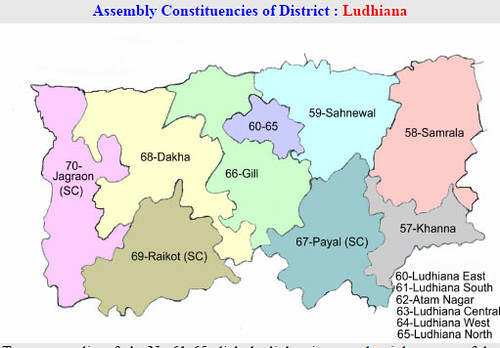 Ludhiana district Punjab Election 2017