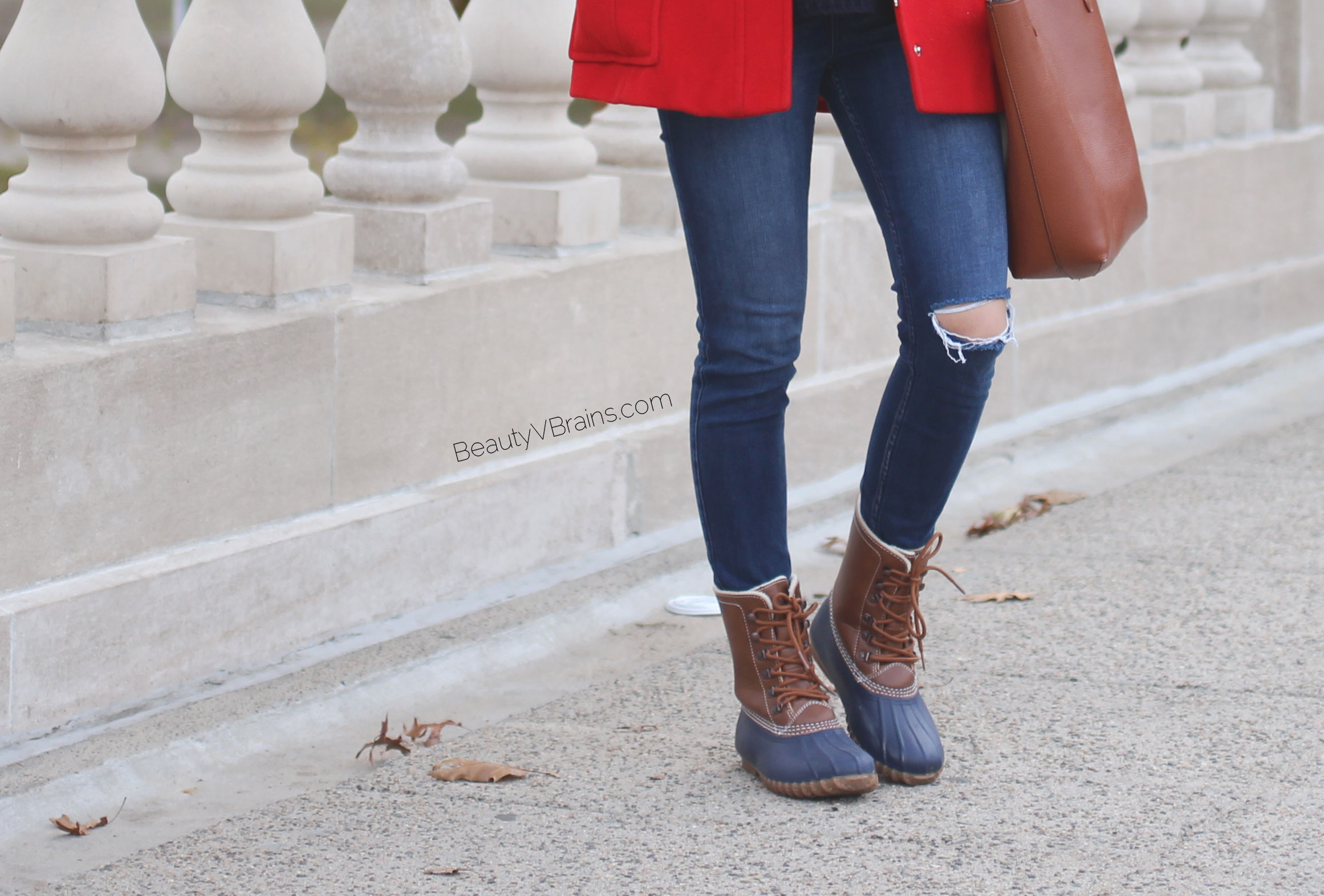 Fur lined duck boots dupe
