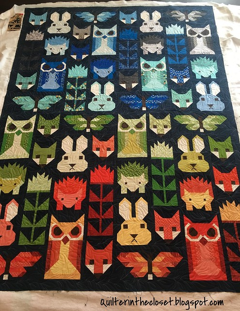 Friends of the Forest - all quilted