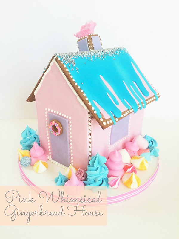 Pink Whimsical Gingerbread House