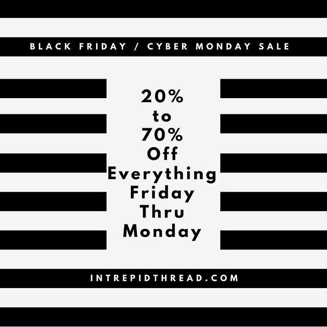 Intrepid Thread Black Friday Sale!