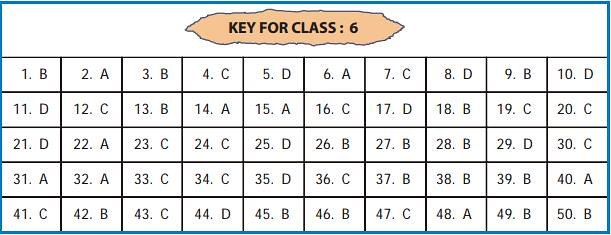UCO answer key for class 6