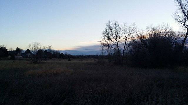 #tommw 44F partly cloudy. Windy