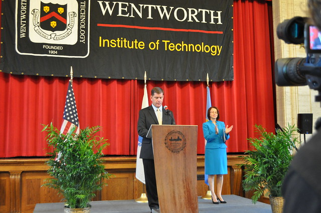 Mayor Walsh Announces Federal Grant at Wentworth