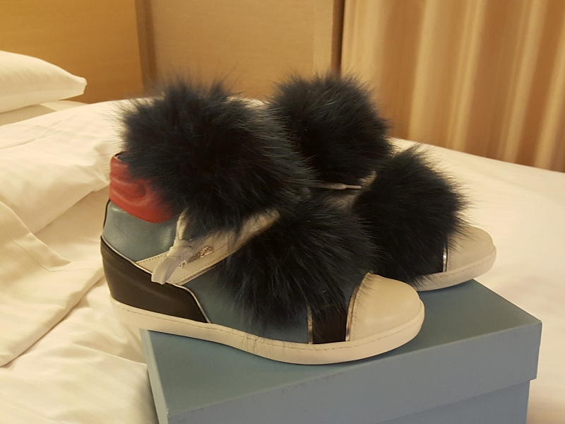 sneakers with fur