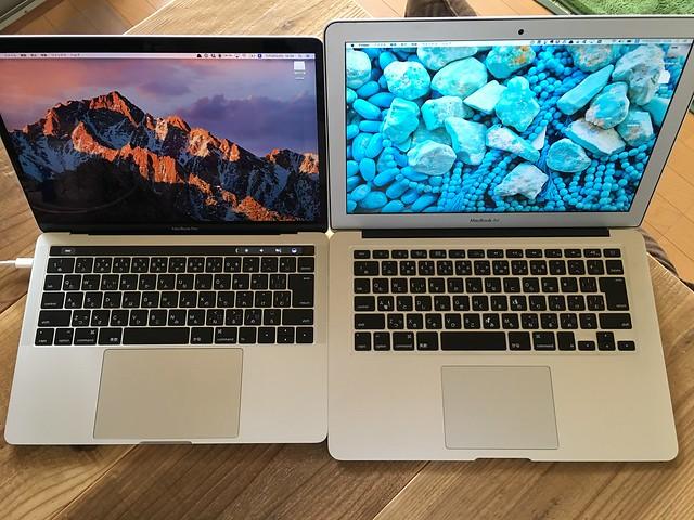 MacBook Pro (late2016) 13inch vs MacBook Air (Mid 2012) 13inch