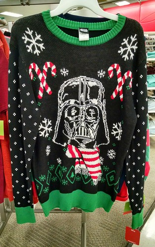 Now THAT'S a Christmas sweater. #StarWars