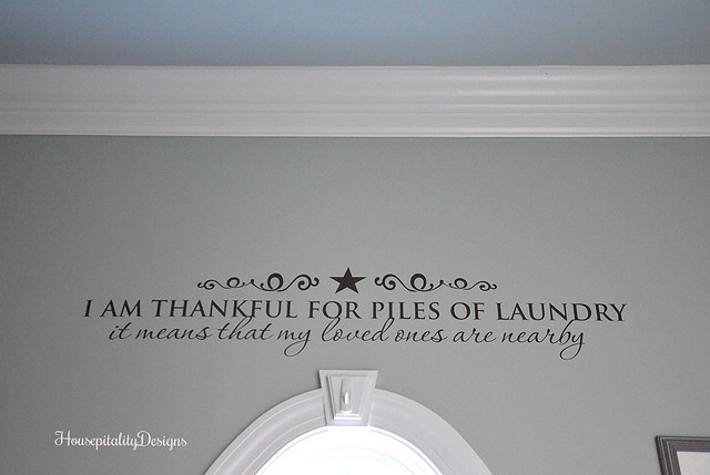 Laundry quote/decal - Housepitality Designs