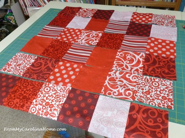 Quick Red Squares Lullaby Quilt ~ From My Carolina Home