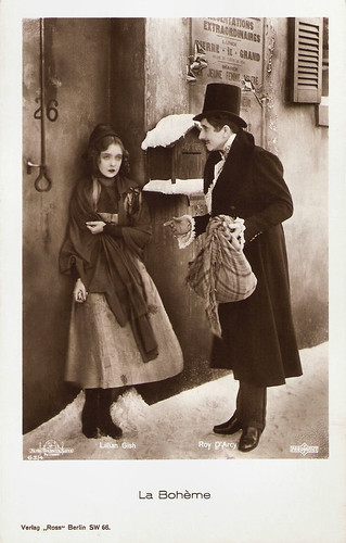 Lillian Gish and Roy D'Arcy in La Bohème (1926)