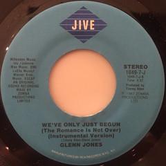 GLENN JONES:WE'VE ONLY JUST BEGUN(LABEL SIDE-B)