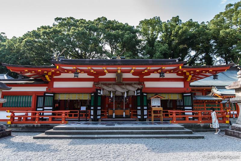 Salón principal del santuario Kumano Hayatama Taisha