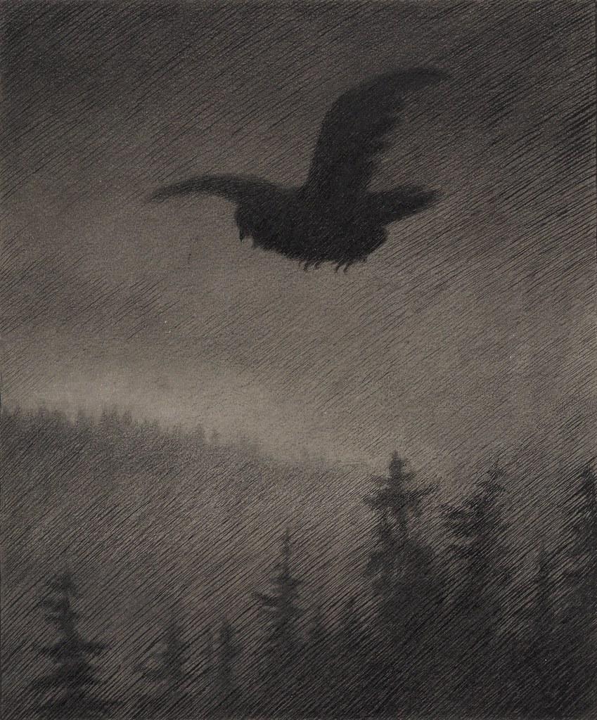 Theodor Kittelsen - Illustration of the Black Death (Autumn Evening), 1900