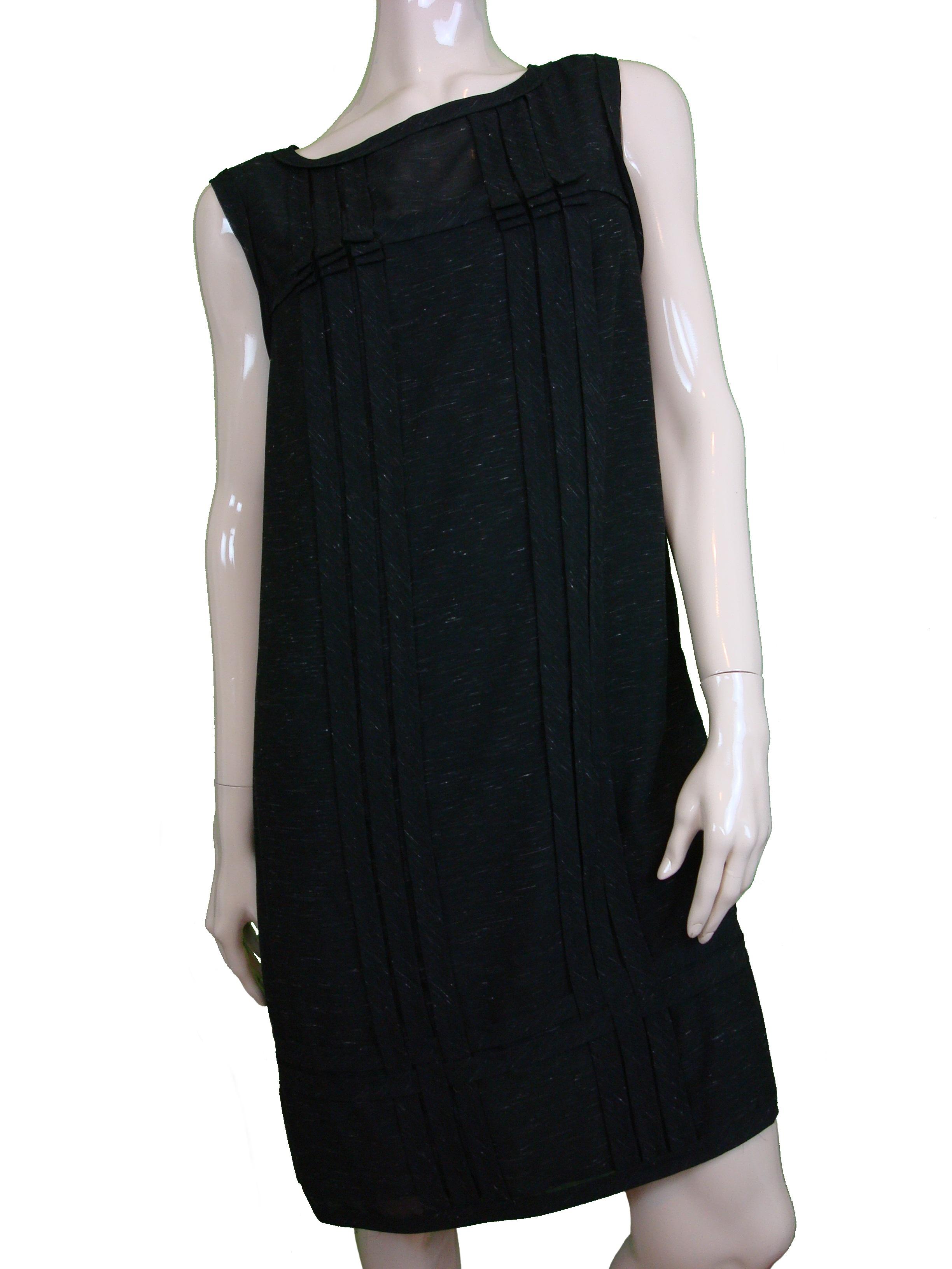 Studio M Womens Semi-Sheer Overlay Streaky Ggt Shift Dress Black L