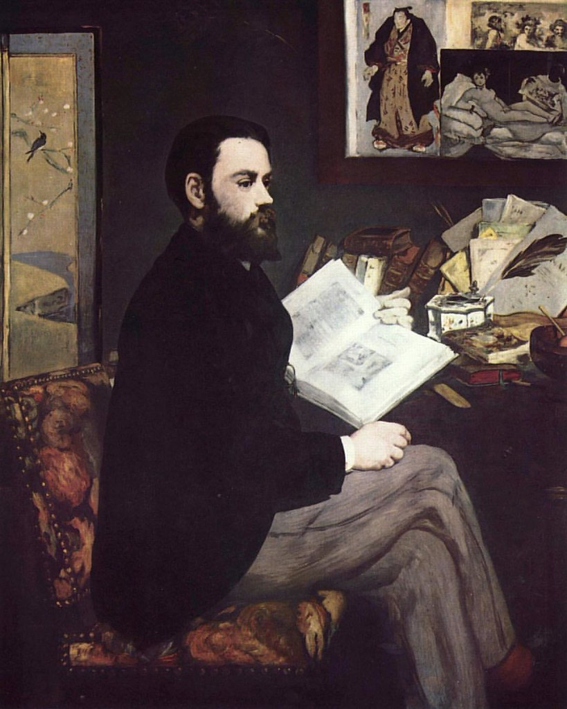 Hang on! It's fridayportrait time! Whoop! Whoop!  This week I present French journalist, political agitator and novelist Emile Zola by his good friend Edward Manet.   I like his style.  Edward Manet, 1868  #19thcenturyhipster #WishIWasAsCoolAsEmileZola