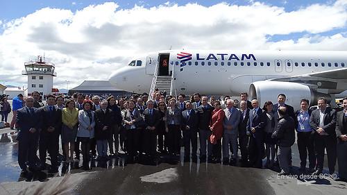 LATAM vuelo inaugural Puerto Natales (RD)