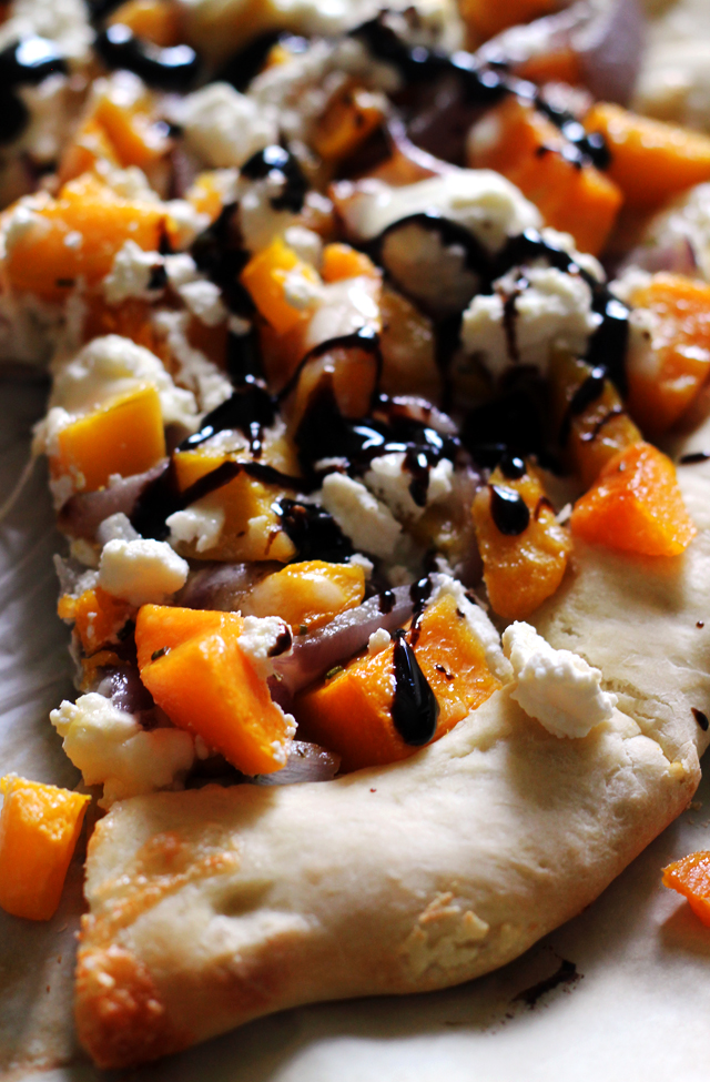 Butternut Squash Pizza With Ricotta And Balsamic Syrup Joanne Eats Well With Others