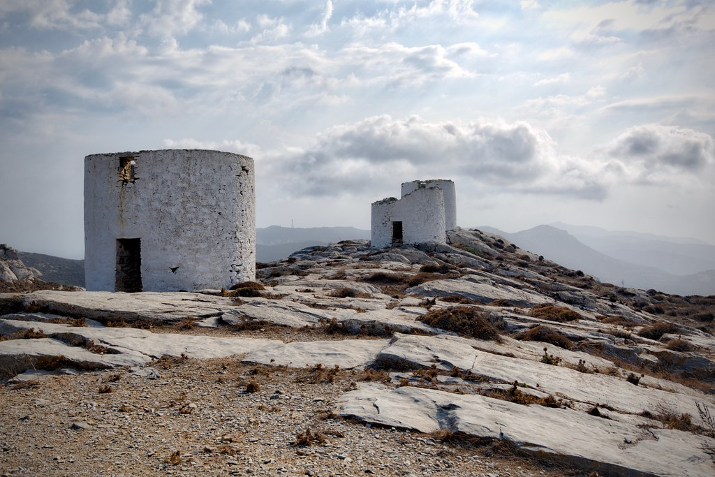 Windmill Towers in Chora