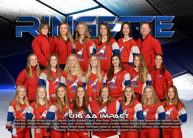 Team Photo - U16AA Impact 2016-17