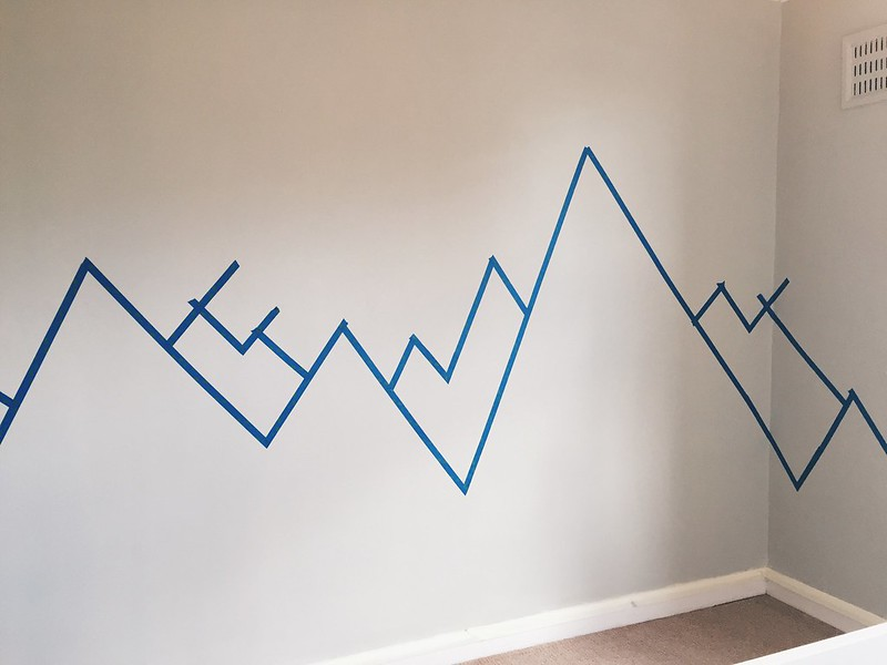 nursery mountain mural DIY
