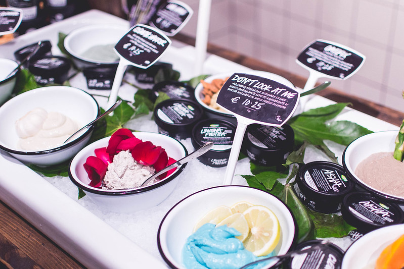 Prettiest installment for Lush's fresh masks in their new Lush Duomo shop in Milan