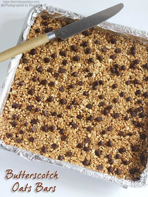 Butterscotch Oats Bars Recipe