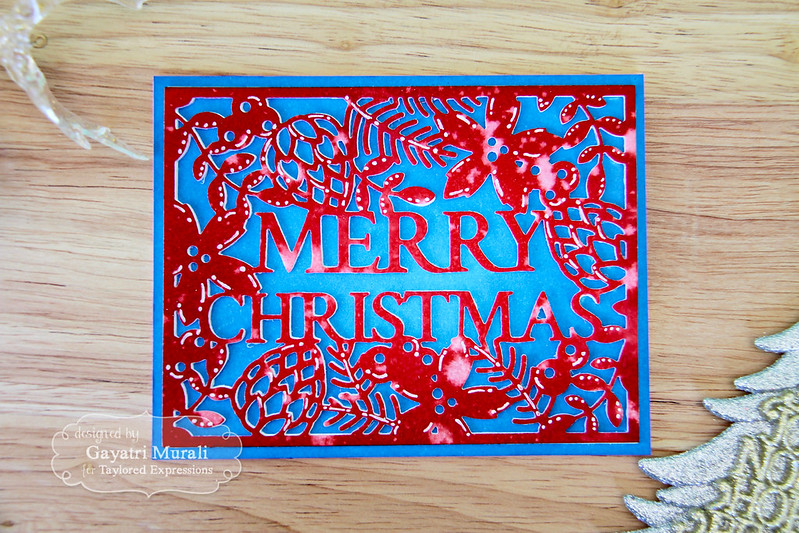 Merry Christmas die flat