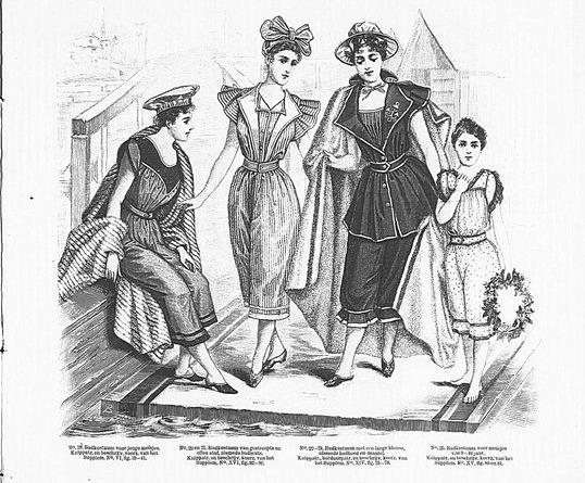 DeGracieuse, costumes de bains 1895