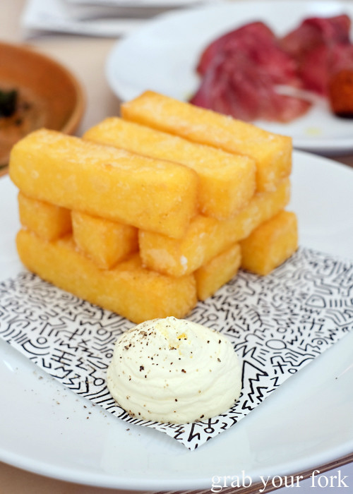 Polenta chips at The Dolphin Hotel in Surry Hills