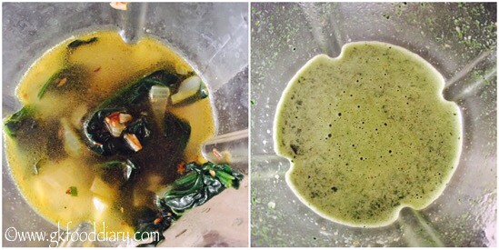 Spinach Soup Recipe for Babies, Toddlers and Kids - step 4