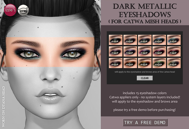 Catwa Dark Metallic Eyeshadows Appliers