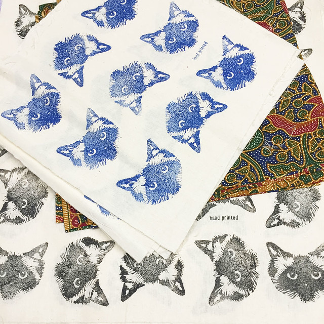Hand printed Pickle Cat Food Wraps