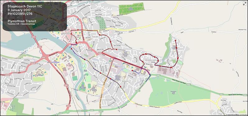 2017 01 03 Stagecoach Devon Route-011C Map.jpg