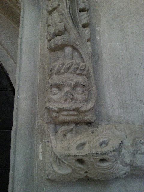 A Green Man in Rosslyn Chapel