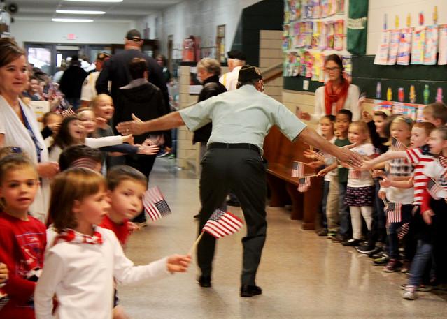 Veterans Day 2016 at St. Patrick Catholic School in Portland