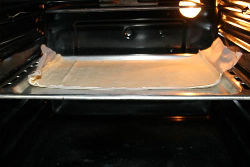 22 - Blätterteig im Ofen vorbacken / Pre-bake puff pastry in oven
