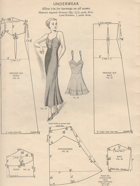 Pattern for a Princess Slip and Camiknickers