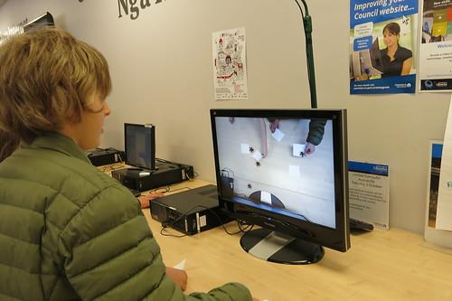 Virtual spiders - Fun Palaces, Central Library Peterborough