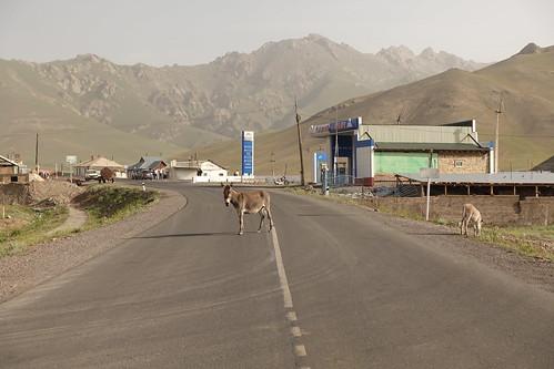 La rue principale de Sari Tash