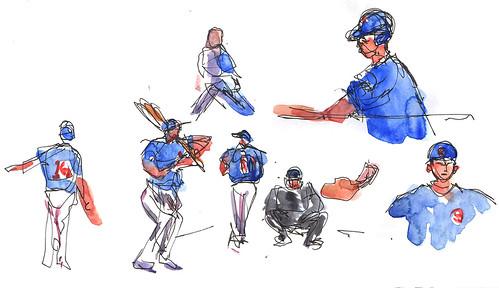 World Series watercolor 1
