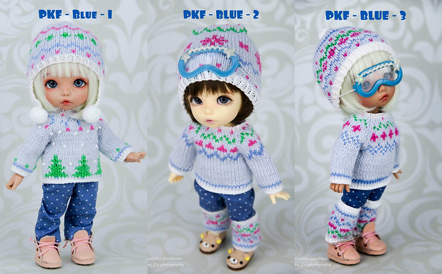 Winter PKF blue sweaters collage
