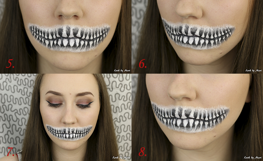 5 halloween skull makeup step by step tutorial easy