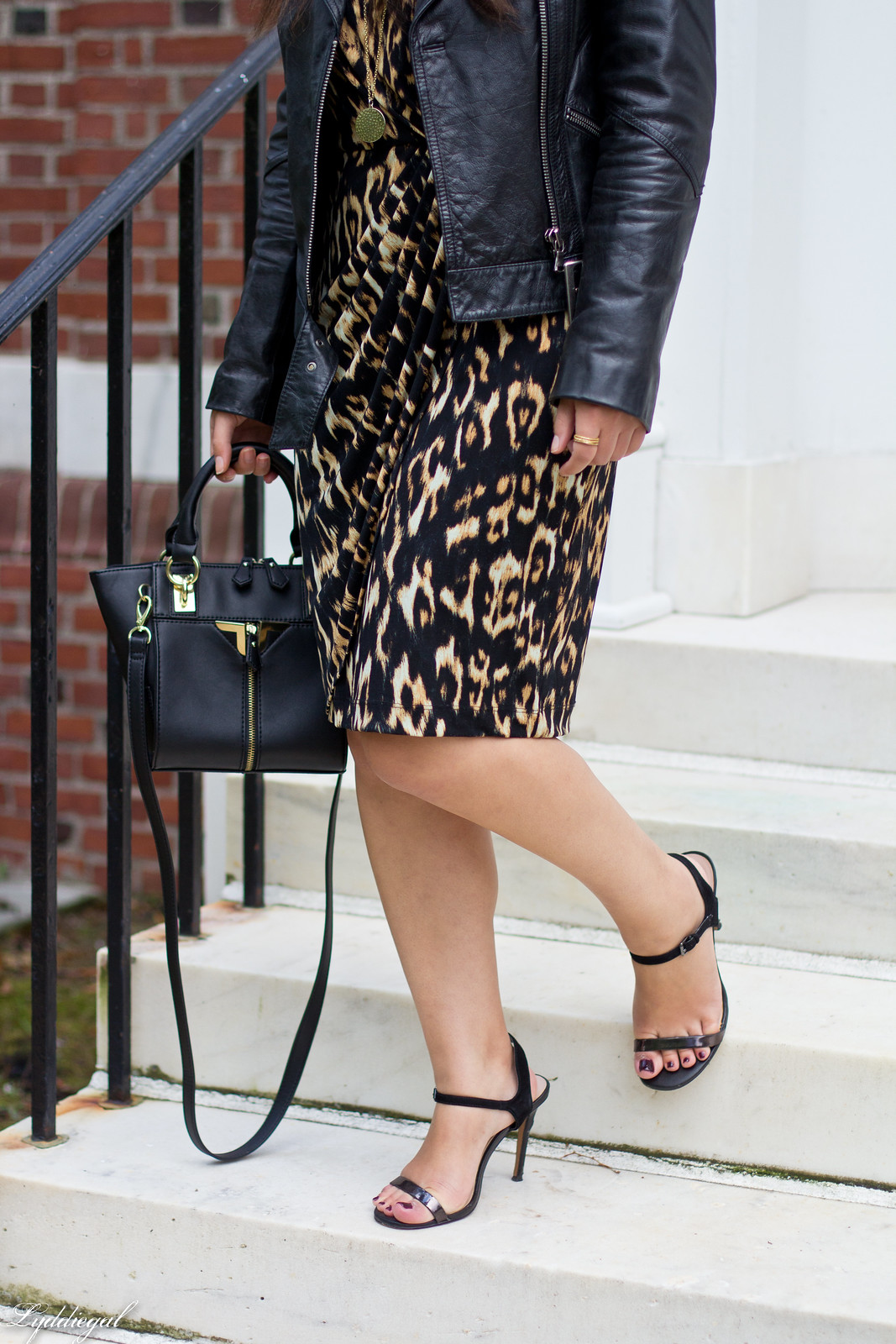 leopard dress, leather moto jacket, strappy heels-8.jpg
